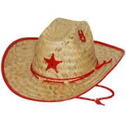 Соломенная шляпа Детская Sherrif Red