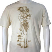 Hula Girl White Tee-M
