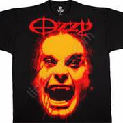 Футболка с эмблеммой рок певца Ozzy Osbourne и коротким рукавом OZZY OSBOURNE T-SHIRT
