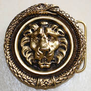 Lion Head Snake Border Gold