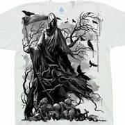 Футболка с изображением черепов и коротким рукавом Reaper Crows