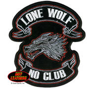 Нашивка Lone Wolf Embroidered Patch