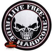 Нашивка Live Free Ride Hardcore Skull Patch