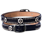 Ремень Western Star and Studs Leather Belt