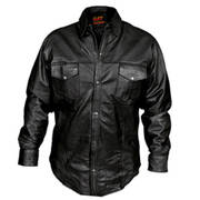 Кожаная рубашка Hot Leathers Shirt