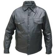 Кожаная рубашка Mens Western Shirt Snaps