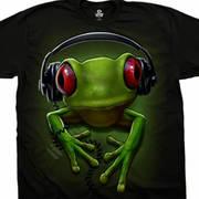 Футболка с картинкой в музыкальной теме и коротким рукавом Frog Rock