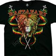 Футболка со львом Rastafari
