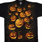 Футболка на Halloween Pumpkin Pile
