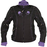 Women's Reflective Rose Black-Purple