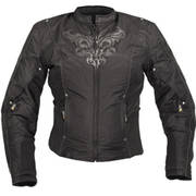Xelement Women's Black Armored Jacket