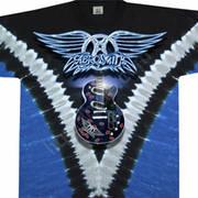 Футболка с эмблеммой рок группы Aerosmith и коротким рукавом Guitar
