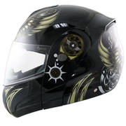Hawk Aviator Skull Motorcycle Helmet