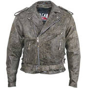 Vulcan  Distressed Leather Jacket