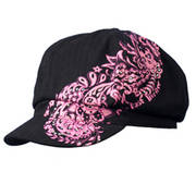 Hot Leathers Paisley Biker Cap