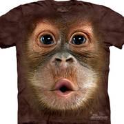 Футболка с обезьяной Big Face Baby Orangutan