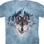 Футболка с волком Blue Moon Wolves