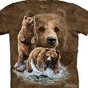 Футболка с коллажем про животных Find 10 Brown Bears