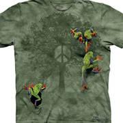 Футболка с картинкой рептилии/амфибии Детская Peace Tree Frog