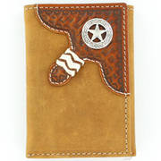 Brown Distressed Trifold Wallet