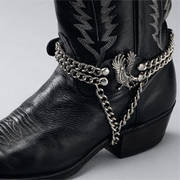 Сбруя на Сапоги Leather Boot Chains Eagle on Side