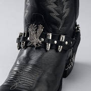 Сбруя на Сапоги Leather Boot Straps Eagle & Shells