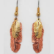 Copper Gold Plated Double Feather