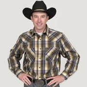Хлопковая рубашка Western Shirt Plaid Black Tan