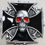 Skull In Maltese Cross