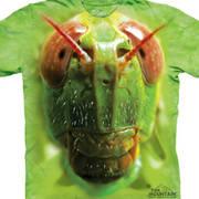 Футболка с изображением насекомых Grasshopper Face