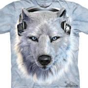Футболка с картинкой в музыкальной теме White Wolf DJ