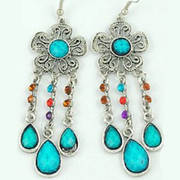 Серьги Flower Earrings Turquoise