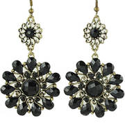 Серьги Flower Drape Earrings Black