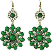 Серьги Flower Drape Earrings Green