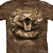 Футболка с картинкой рептилии/амфибии Snake Moon Eyes
