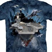 Военная футболка с коротким рукавом Детская Aircraft Carrier