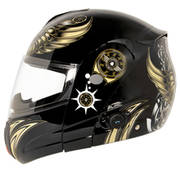 Bluetooth Aviator Skull Motorcycle Helmet