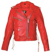 Кожаная мотокуртка Ladies Red Motorcycle Jacket