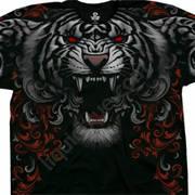 Футболка с изображением животных и короткими рукавами Three Tiger Roar