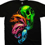 Футболка с изображением черепов Liquid Neon Skulls