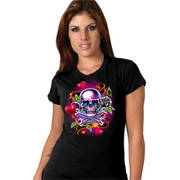 Ladies Colorful Tattoo Skull