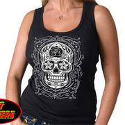 Sugar Skull Ladies Tank Top