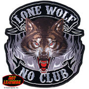 Нашивка Hot Leathers Lone Wolf  No Club Patch