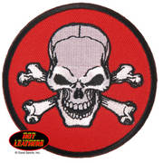 Circle Skull Cross Bones Patch