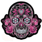 Нашивка Pink Sugar Skull and Roses Patch