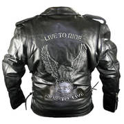 Embossed Eagle Motorcycle Jackets