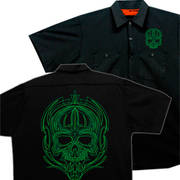 Green Tribal Skull