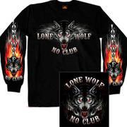 Футболка с длинным рукавом Lone Wolf No Club Biker LS