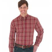 Burgundy Ridge Plaid Shirt