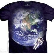 Футболка с изображением пришельцев Astro Earth